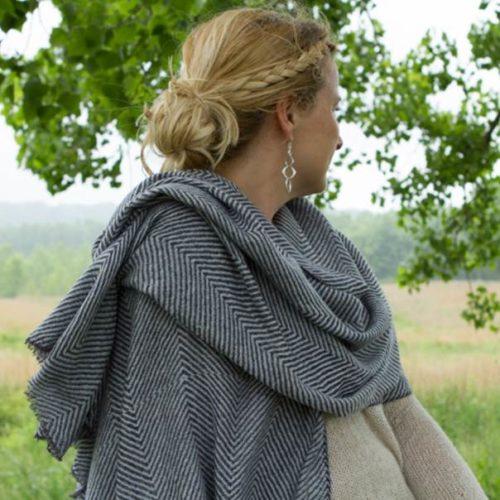 Wholesale herringbone cashmere shawls